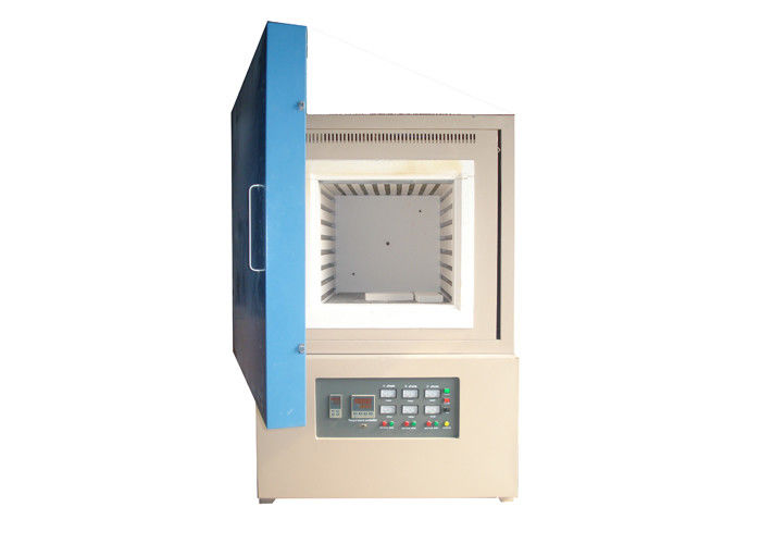 Ceramic Fiber Chamber Electric Muffle Furnace , Manual High Temperature Muffle Furnace